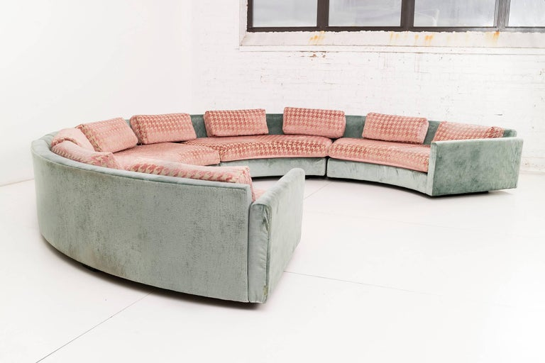 Adrian Pearsall Curved Sectional Sofa At 1stdibs