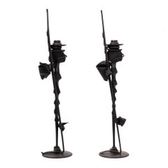 Pair of Albert Paley Candlesticks