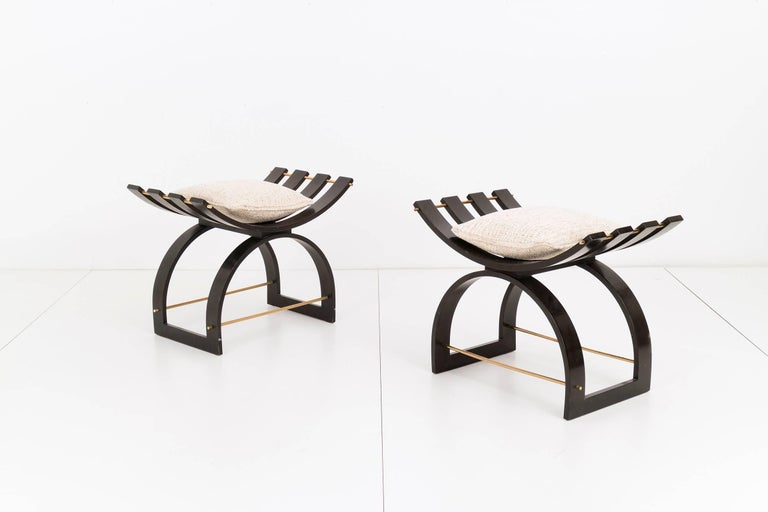 Mid-Century Modern Pair of Harvey Probber Knights Benches For Sale