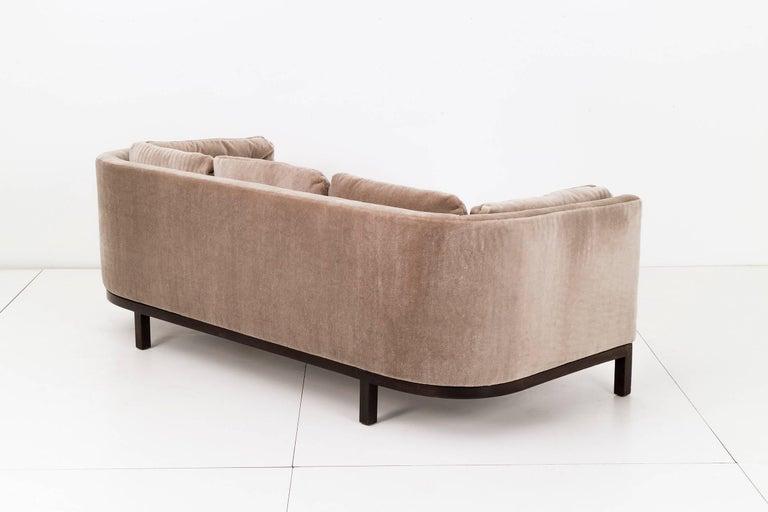 American Roger Sprunger Curved Back Sofa for Dunbar For Sale