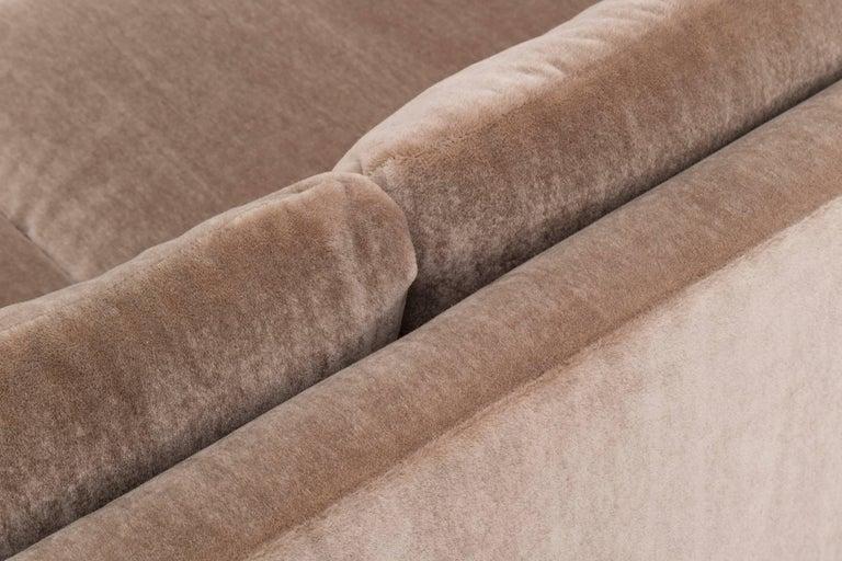 Mohair Roger Sprunger Curved Back Sofa for Dunbar For Sale