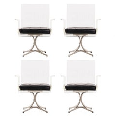 Set of Four Laverne Flower Dining or Occasional Chairs