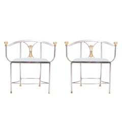 Pair of Alberto Orlandi Savonarola Chairs