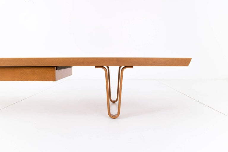 Edward Wormley Long John Coffee Table for Dunbar In Good Condition For Sale In Chicago, IL