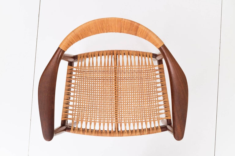 Cane Set of Eight Hans Wegner Armchairs For Sale