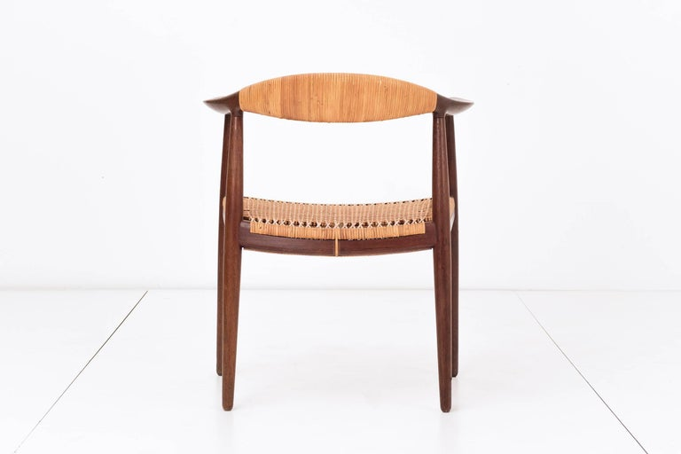 Oiled Set of Eight Hans Wegner Armchairs For Sale