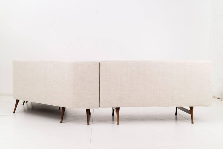 Turned Paul McCobb for Widdicomb Sectional Sofa For Sale