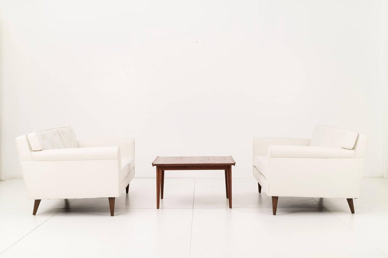 Pair of Fluted Leg Settees by Edward Wormley for Dunbar 3
