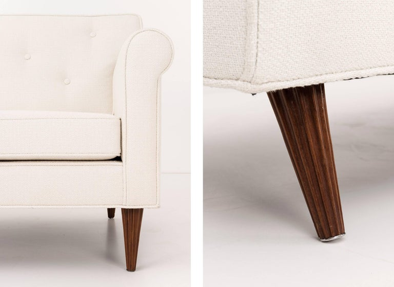 Pair of Fluted Leg Settees by Edward Wormley for Dunbar 9