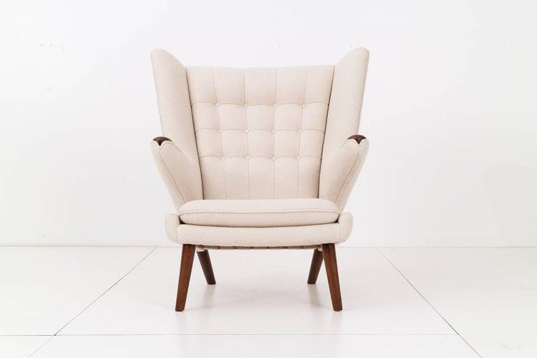 Danish Hans J. Wegner Papa Bear Chair and Ottoman For Sale