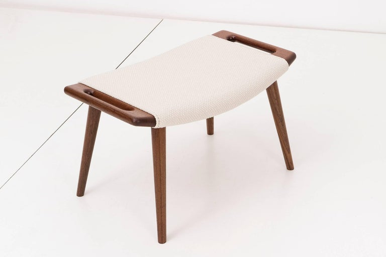 Upholstery Hans J. Wegner Papa Bear Chair and Ottoman For Sale