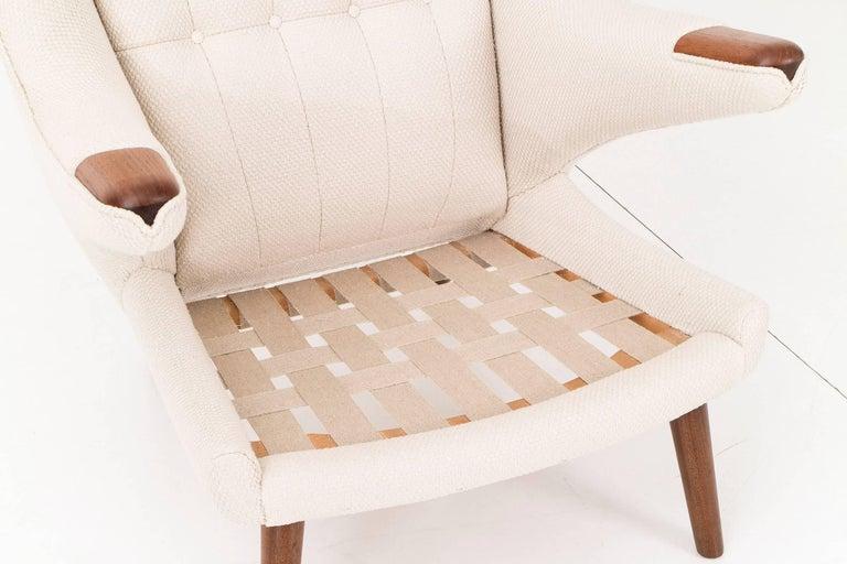 Hans J. Wegner Papa Bear Chair and Ottoman For Sale 1