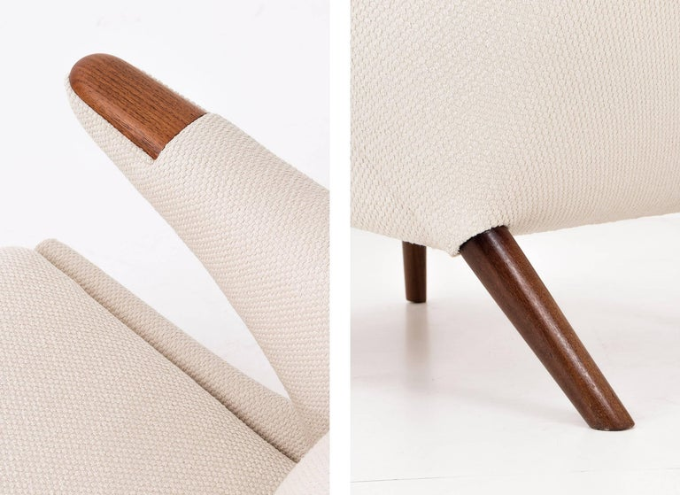 Mid-20th Century Hans J. Wegner Papa Bear Chair and Ottoman For Sale