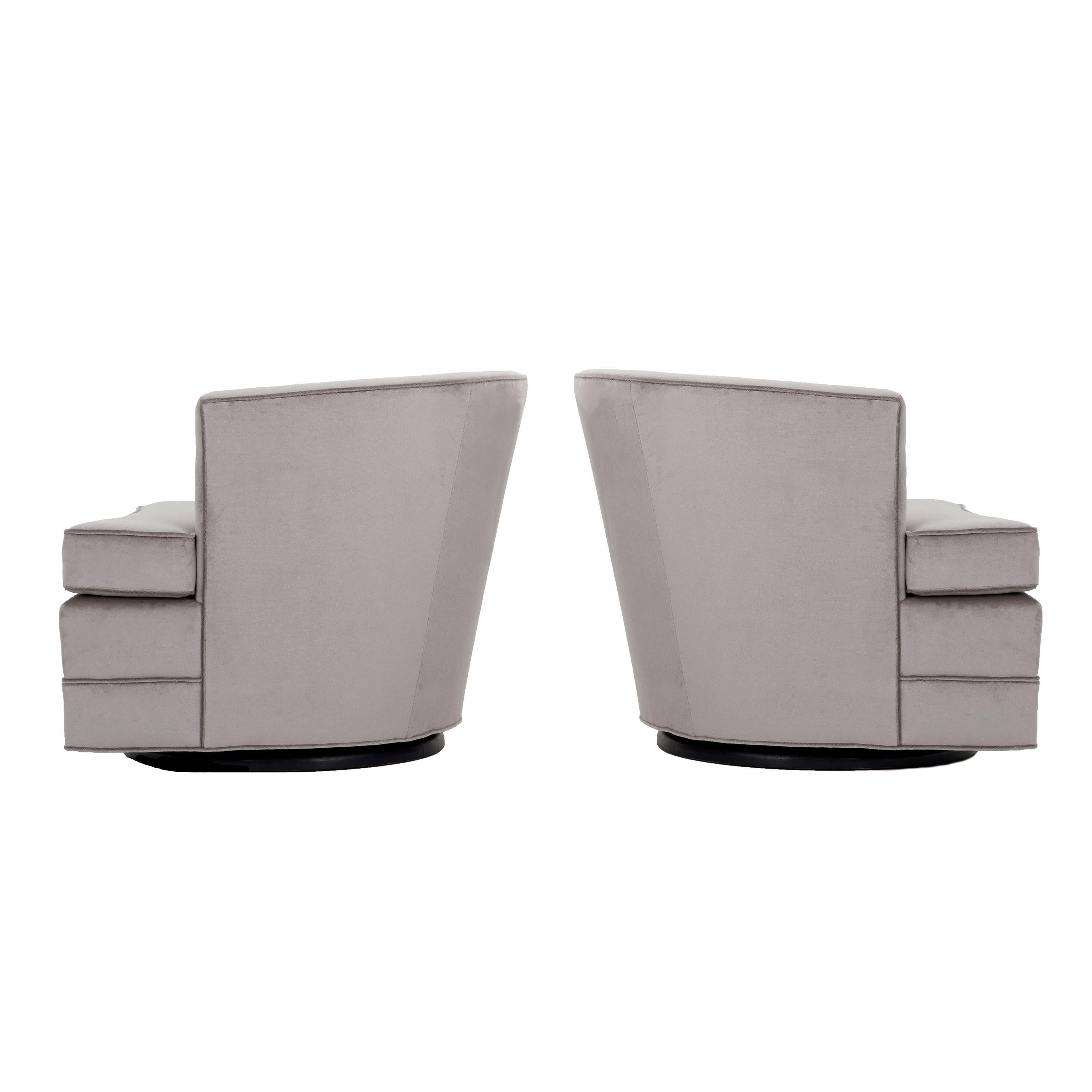 Pair Of Harvey Probber Swivel Chairs For Sale