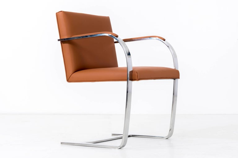 Set of 12 Brno Leather Dining Chairs For Sale 1