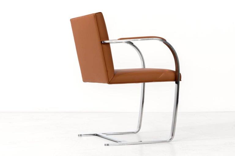 Set of 12 Brno Leather Dining Chairs For Sale 3