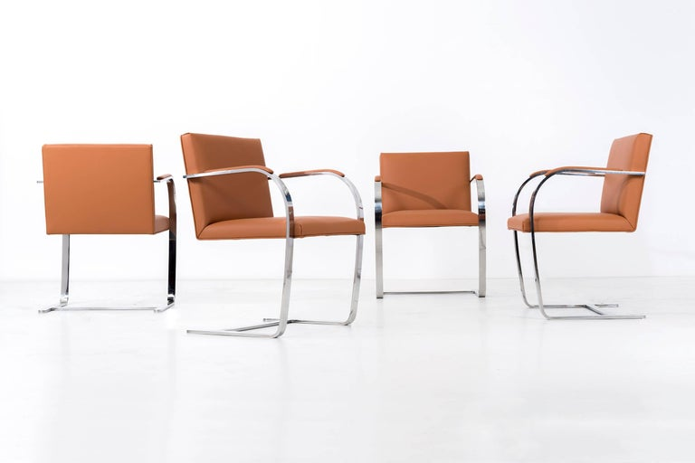 American Set of 12 Brno Leather Dining Chairs For Sale