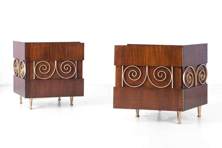 Edmund Spence Pair of End Tables or Nightstands 3