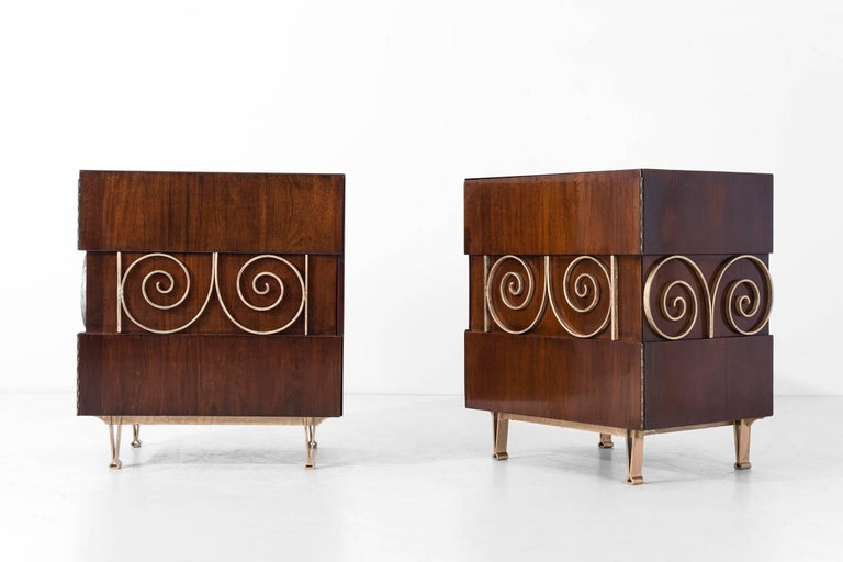 Edmund Spence Pair of End Tables or Nightstands 4