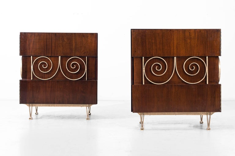 Edmund Spence Pair of End Tables or Nightstands 2