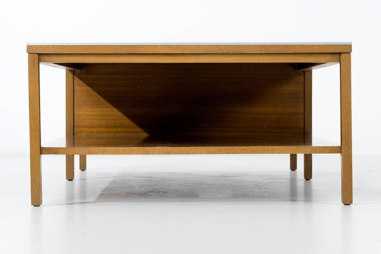 Paul McCobb Leather Top Coffee Table In Good Condition For Sale In Chicago, IL