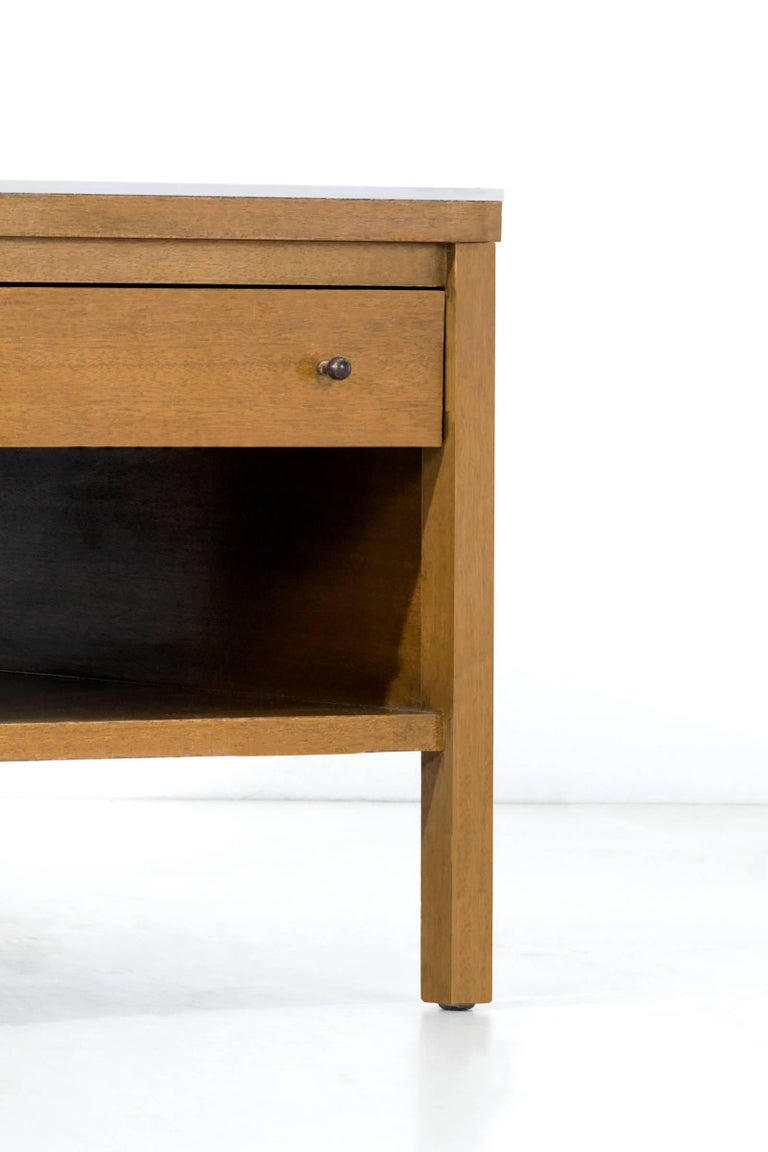 Paul McCobb Leather Top Coffee Table For Sale 1