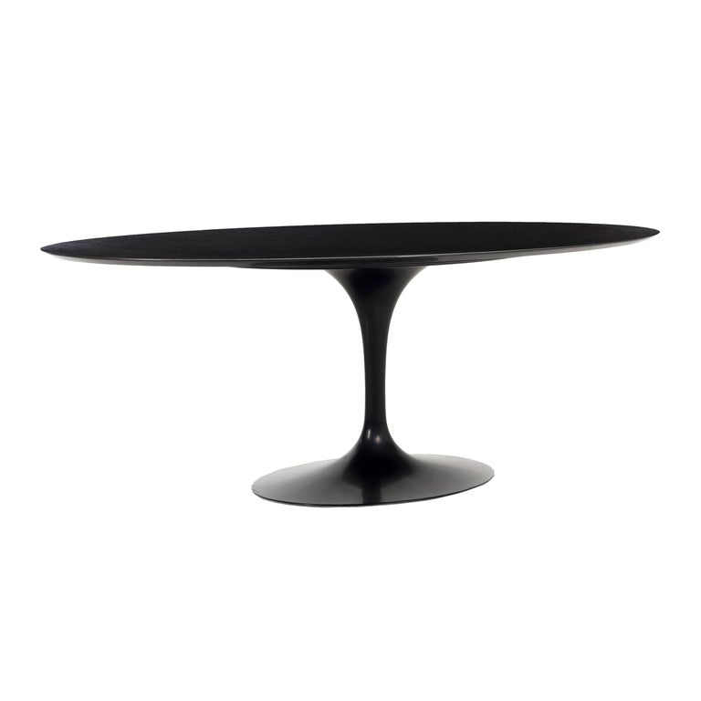 Eero Saarinen for Knoll Tulip table in black granite, 1958, offered by CONVERSO