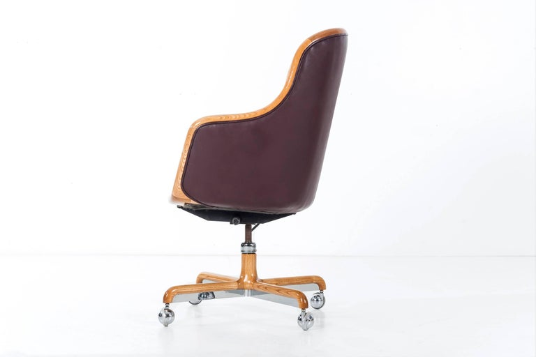Leather Ward Bennett Executive Desk Chair For Sale