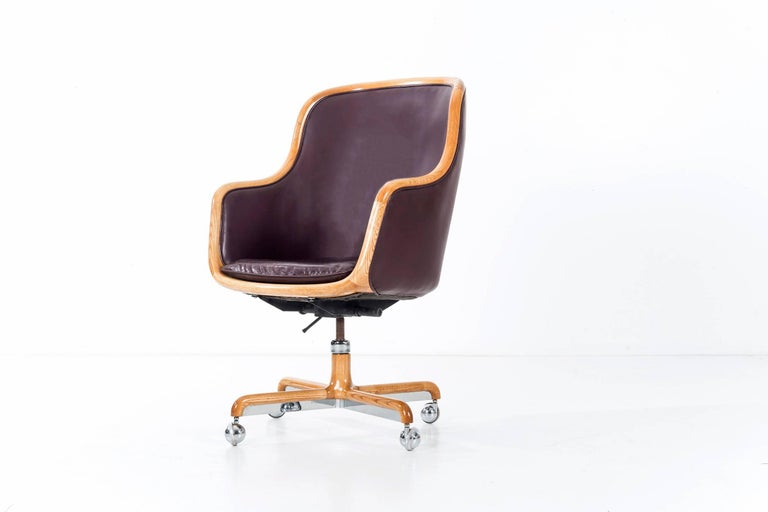 Ward Bennett Executive Desk Chair For Sale 1