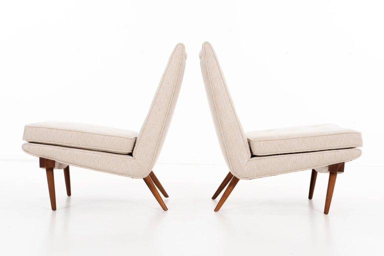 Oiled George Nakashima Lounge Chairs For Sale