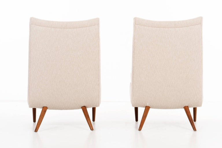Upholstery George Nakashima Lounge Chairs For Sale