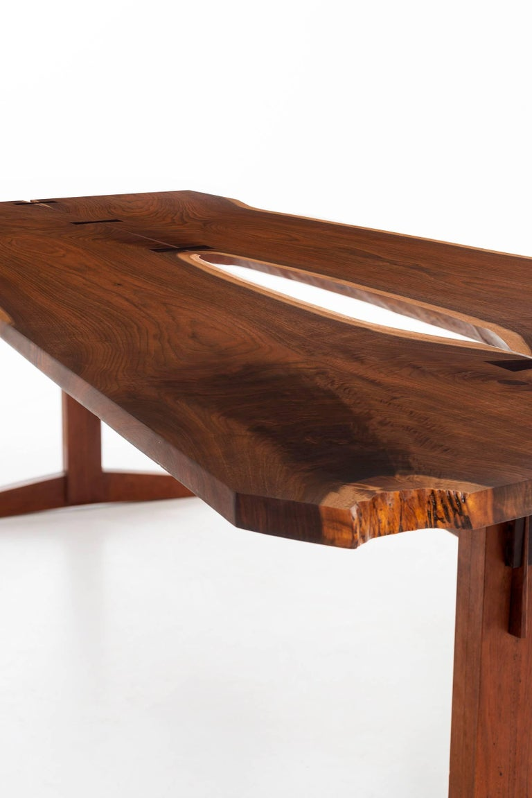 Rosewood George Nakashima Trestle Table For Sale