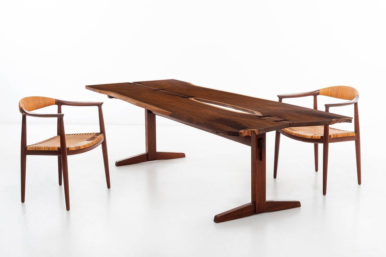 George Nakashima Trestle Table For Sale 4