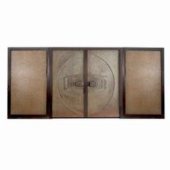 Monumental Brutalist Exterior Doors from Craig Ellwood House