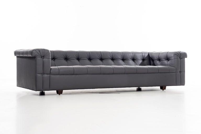 Mid-Century Modern Dunbar Chesterfield Sofa For Sale