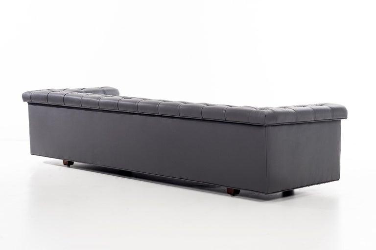 Leather Dunbar Chesterfield Sofa For Sale