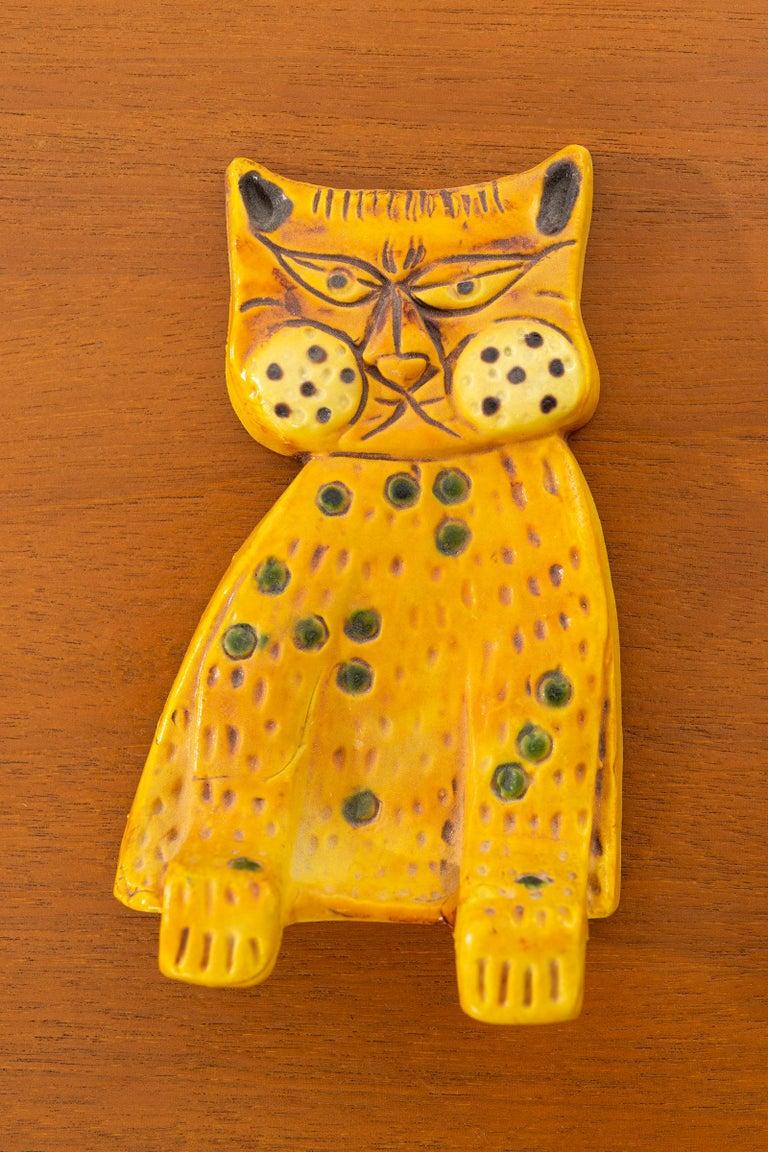 Marcello Fantoni for Raymor ceramic shelf hanging cat.