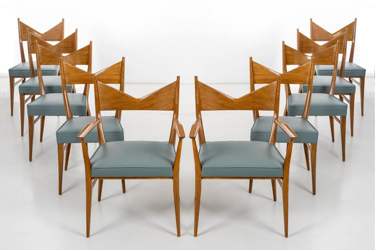 Lacquered Paul McCobb Dining Chairs Set of Ten For Sale
