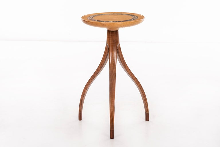 Mid-Century Modern Tripod Plant Pedestal Table in the Style of Edward Wormley For Sale