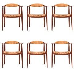 Set of Six Hans Wegner Armchairs