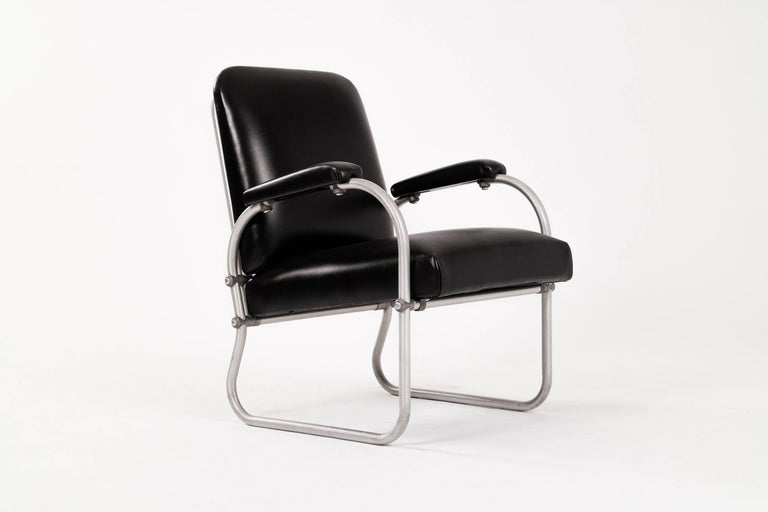 Art Deco Pair of Warren McArthur for Namco Lounge Chairs For Sale