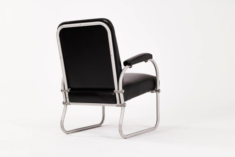 Anodized Pair of Warren McArthur for Namco Lounge Chairs For Sale