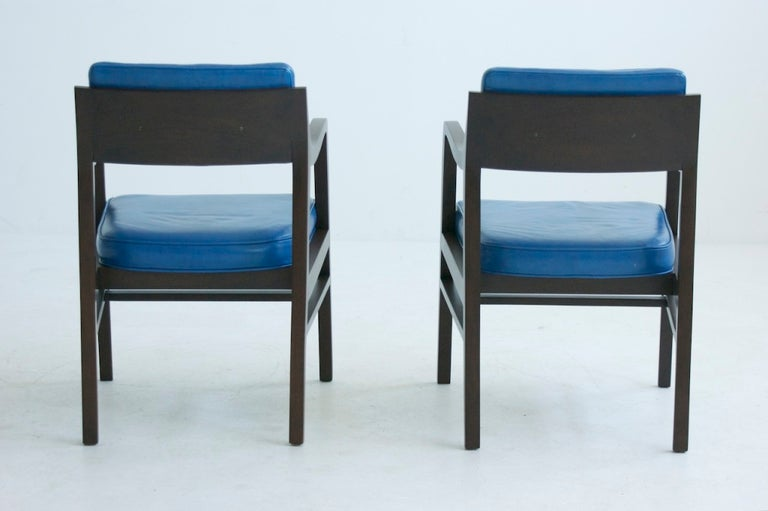 American Edward Wormley Pair of Pull Up Chairs For Sale