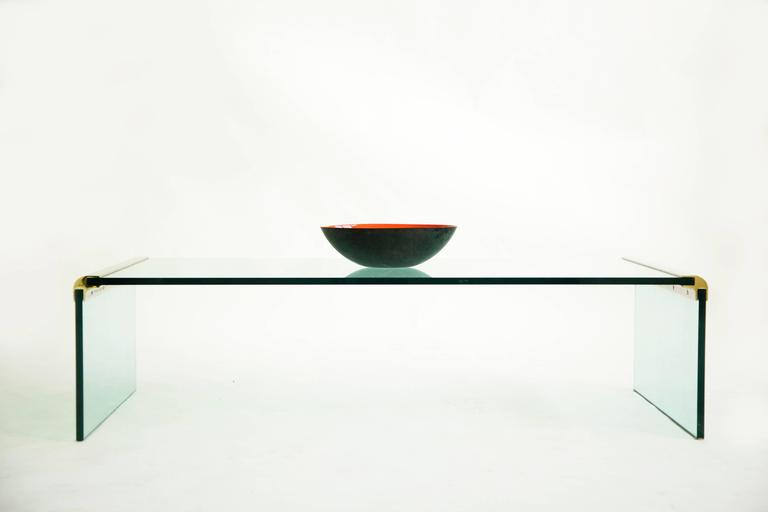 Glass Pace Cocktail Table For Sale