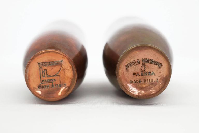 Mid-Century Modern Angelo Molignoni Copper Nesting Vases