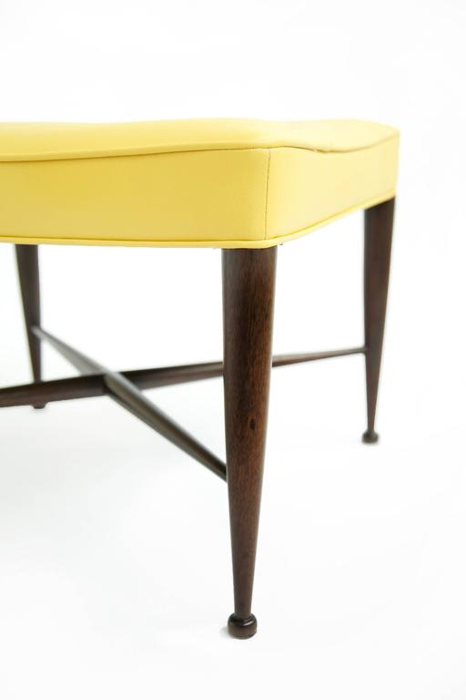 Mid-Century Modern Set of Three Wormley X-Base Stools For Sale