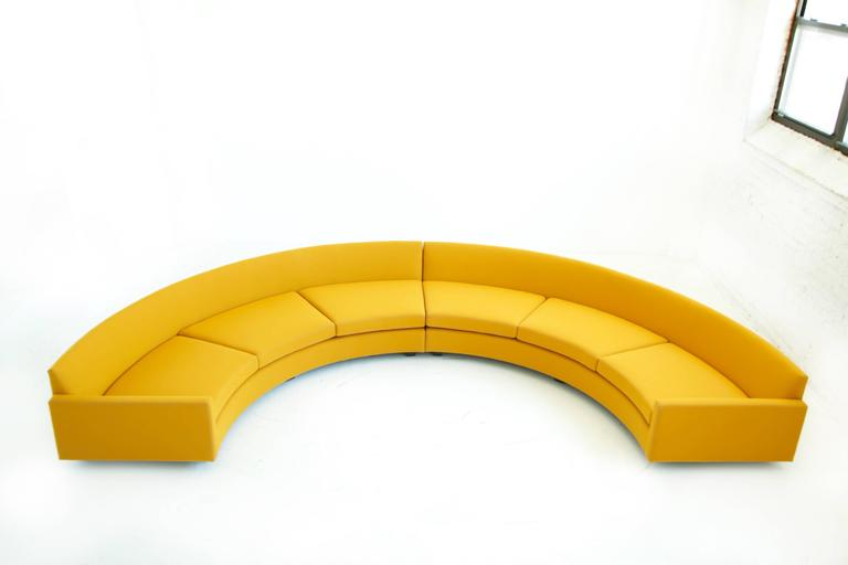 Milo Baughman Semi-Circle Sectional Sofa 3