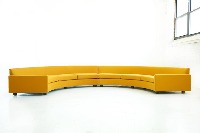 Milo Baughman Semi-Circle Sectional Sofa 4