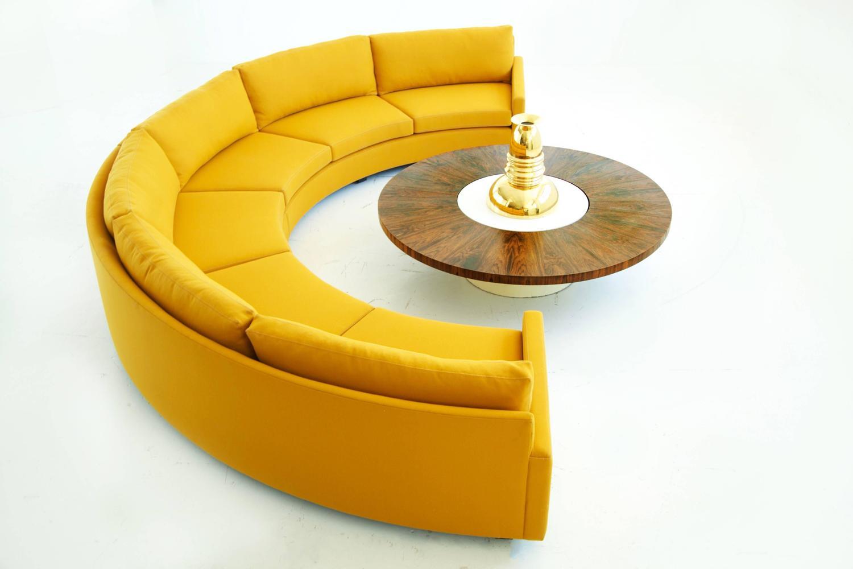 Milo Baughman Semi Circle Sectional Sofa For Sale At 1stdibs