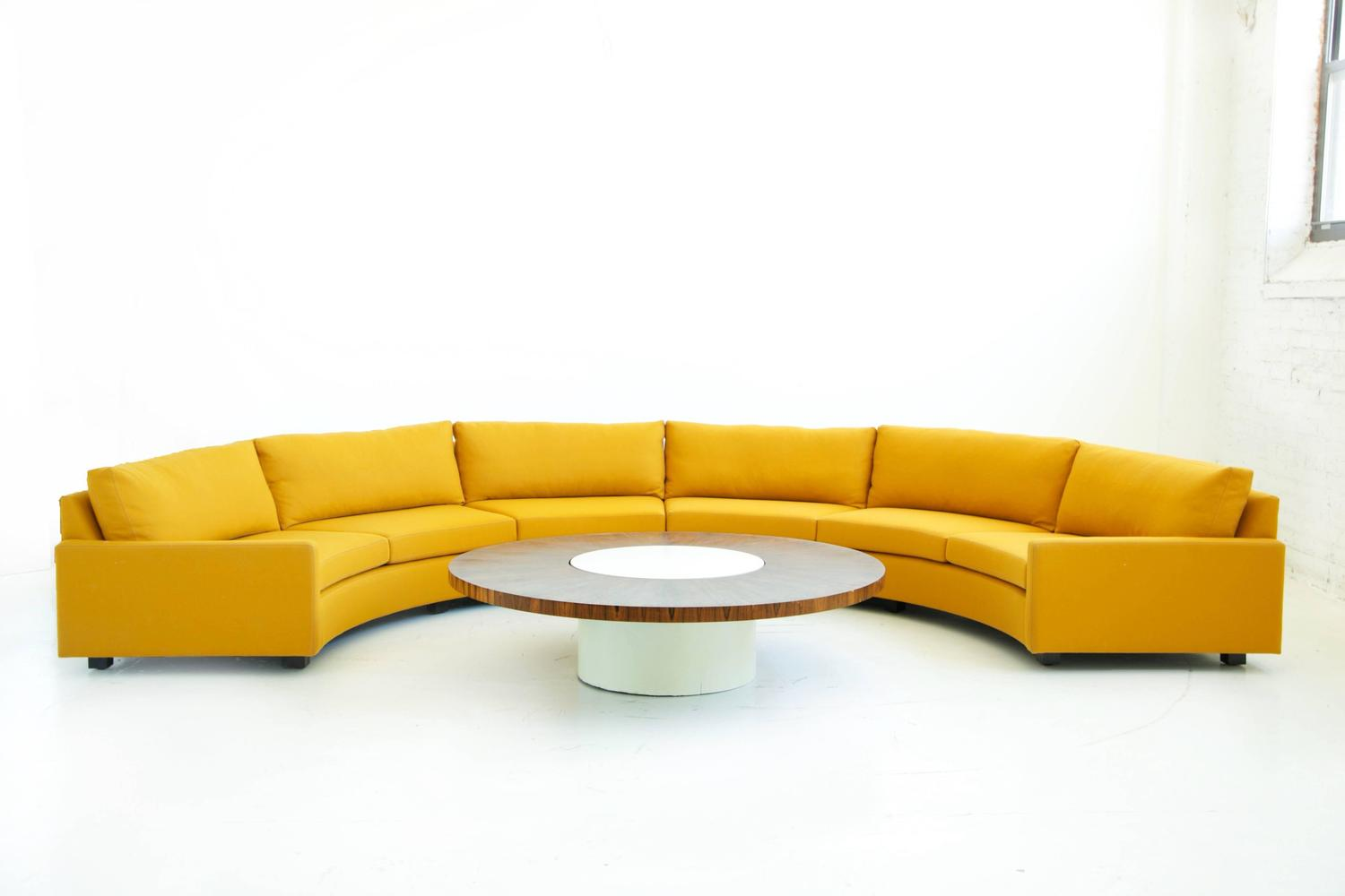 Milo Baughman Semi Circle Sectional Sofa For Sale At 1stdibs